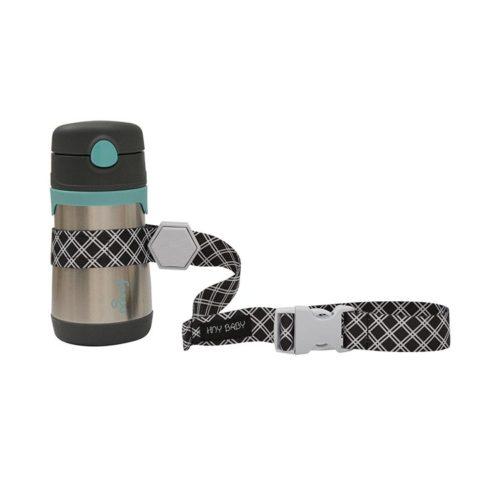 black sippy cup strap