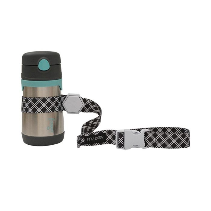 black sippy cup strap