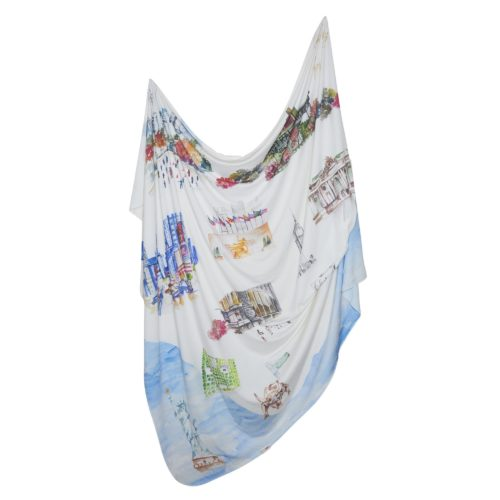 New york swaddle blanket