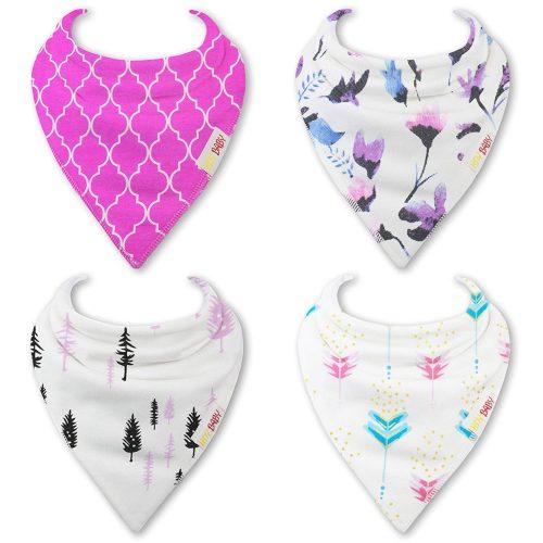 Pink bandana bibs